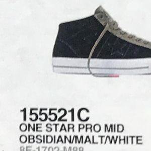 2823886720ef Converse Shoes - Converse One Star Pro Mid Obsidian Malt White